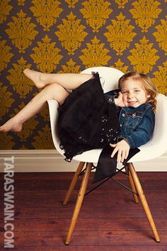 chair pose for little girl