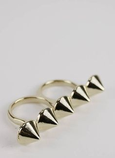 Double pointed ring.