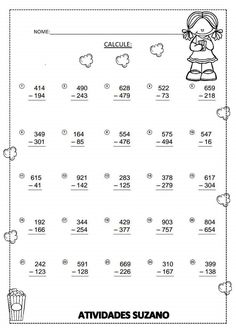 Subtraction with regrouping Addition And Subtraction Worksheets, 3rd Grade Math Worksheets, Worksheets For Kids, Math Sheets, Writing Words, Homeschool Math, Elementary Math, Kids Education, Teaching