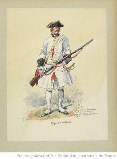 French;Line Infantry Regiment de la Marine, 1757 by E.Fort