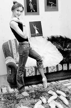 Svetlana zakharova at her home. #Ballet_beautie #sur_les_pointes * Ballet_beautie, sur_les_pointes *