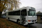 Startrans President Series  › 33 Seat Capacity Mini-Coach › Air Conditioning › Overhead parcel racks › Rear Luggage Storage › Panoramic tinted windows › Air Ride System for passenger comfort › Reclining Seats › DVD, CD, PA