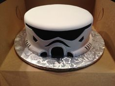 Star Wars Storm Trooper birthday cake annacakes.com