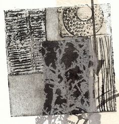 I have challenged my printmaking groups to combine collagraph prints with gum arabic transfers. They have made a set of small plates, t...
