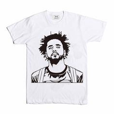 J. Cole White Tee // T-shirt // Babes & Gents // http://babesngents.com/collections/graphic-shirts // #babesngents