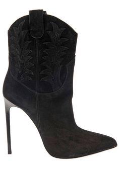 Saint Laurent booties, $1,368, matchesfashion.com.   - HarpersBAZAAR.com