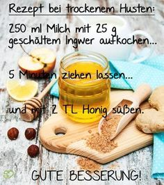 Irritant cough: home remedies & medication for relief - Onmeda.de - Our recipe for dry, irritable cough. Informations About Reizhusten: Hausmittel & Medikamente zur Lin - Home Remedy For Cough, Cough Remedies, Health Remedies, Home Remedies, Natural Remedies, Herbal Remedies, Healthy Eating Tips, Healthy Nutrition, How To Stay Healthy