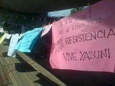 SI a la vida. No al etnocidio. Resistencia vive. Yasuní. #Yasunidos