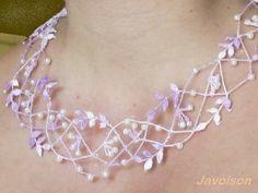 Lorsque la dentelle aux fuseaux devient précieuse, le collier pour l'anniversaire d'Emilie.