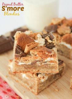 Peanut Butter S'more Blondies