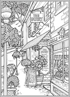 Detailed Coloring Pages, Printable Adult Coloring Pages, Cute Coloring Pages, Animal Coloring Pages, Free Coloring, Coloring Books, Coloring Pages For Adults, Dover Coloring Pages, Dover Publications