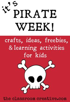 summer fun themed week-crafts, activities, ideas, and free… Preschool Pirate Theme, Pirate Activities, Kids Learning Activities, Summer Activities, Craft Activities, Teaching Resources, Summer School, Summer Fun, Pirate Treasure Maps