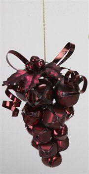 Wine Cork Red Grape Cluster Christmas Ornament Bar Decoration