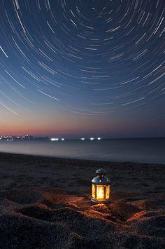 """""""Over the Aegean sea"""", star trails, Greece by Vangelis Feleris"""