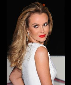 Amanda Holden smoulders in red lipstick