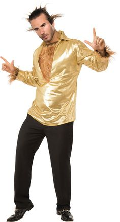 Rubie's Costume Heroes and Hombres Disco Wolf Shirt With Hairy Chest Costume Funny Costumes, Halloween Costumes, Funny Sweatshirts, Hoodies, Kim Deal, Hairy Chest, Family Shirts, Wolf, Discount Handbags