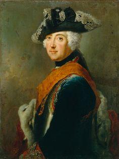 Antoine Pesne (1683-1757) —  Portrait of Friedrich II of Prussia (1712-1786), 1745  (768×1024)
