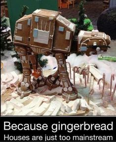 "AT-AT gingerbread ""house"""