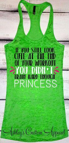 Womens Fitness Apparel, Funny Workout Shirt, Train Hard, Crossfit Shirt, Womens Lifting Tank, Gym Clothes, Inspirational, Custom Burnout by AshleysCustomApparel #ad