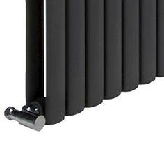 DESIGNER RADIATOR-N6 HORIZONTAL TUBULAR PANEL Black Horizontal Designer Radiators, Knife Block, Black, Black People