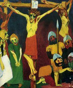 1911 1912 Emil Nolde La vie du Christ, en crucifixion