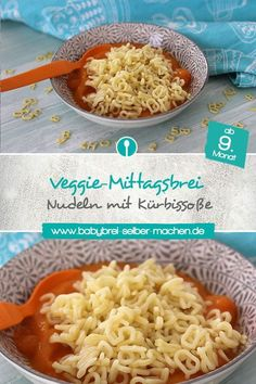 Letter noodles with pumpkin sauce - Baby porridge from the month- Buchstabennudeln mit Kürbissoße – Babybrei ab dem Monat Simple recipe for letter noodles with pumpkin sauce. Ideal for older babies from the ninth month. Pumpkin Sauce, Baby First Foods, Baby Food Storage, Baby Puree, Homemade Baby Foods, Baby In Pumpkin, Evening Meals, Meals For One, Baby Food Recipes