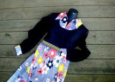Vintage Mod Maxi Dress Fun Costume Size 6  8 by BeppieandEido