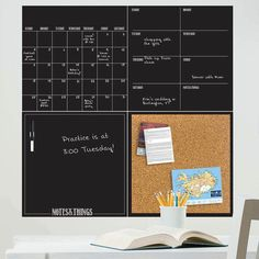 All in one. From organizing your schedule, to jotting down ideas and pinning up your favorite photos—this four-piece organizer set has it all. // dormify.com