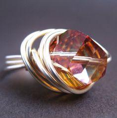 Swarovski crystal ring, $45