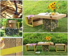 Mobilier de jardin en palettes de bois