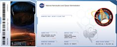 I got my boarding pass, did you get yours? nasa.gov