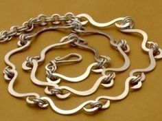 Gorgeous hammered wire work on this handmade chain