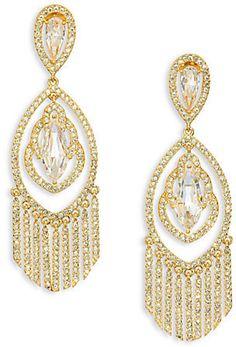 Adriana Orsini Embraced Crystal Chandelier Earrings