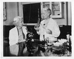 From the Smithsonian Institute's Women in Science photos Elizabeth Lee Hazen (1888-1975) and Rachel Brown (1898-1980)