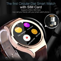 2016 Newest Vintage wrist watch mobile phone T3 leather strap support sim card !