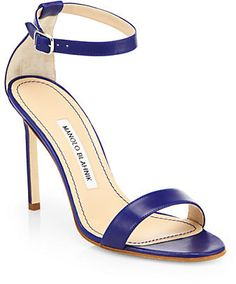 Manolo Blahnik Chaos Leather Ankle-Strap Sandals on shopstyle.co.uk