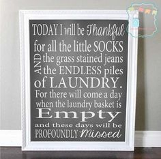 I need this for my laundry room. Such a great reminder!!! Laundry Room Improvement Ideas You Can Borrow