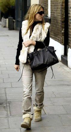 Kate Moss Balenciaga bag Ugg boots