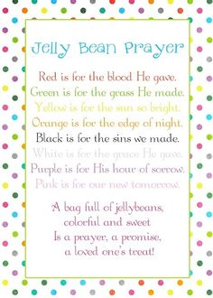 Jelly Bean Prayer (EASTER)