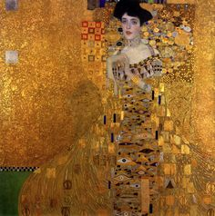 Klimt - Portrait of Adele Bloch-Bauer I, Oil, silver, and gold on canvas