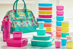Go to school or work in style. Food stays fresh. Find sales and deal on my page. Tupperware