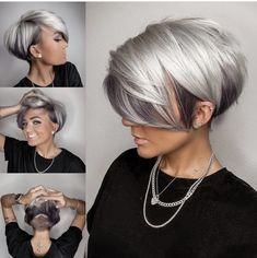 Silver White Hair, Silver Blonde Hair, Platinum Silver Hair Color, Blue Grey Hair, Hair Dos, My Hair, Hair Color Pink, Purple Hair, Hair Colors