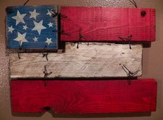 reclaimed wood American flag wall hanging by CiderHouseMill, $45.00
