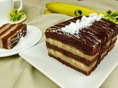 Raspberrybrunette: Čokoládovo-banánové rezy Tiramisu, Gluten, Ethnic Recipes, Food, Basket, Essen, Meals, Tiramisu Cake, Yemek