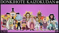 Donkihote Kaizokudan (Sr. Pink, Machvise, Dellinger, Lao G, Diamante, Monet, Vergo, Pica, Donquixote Doflamingo, Gladius, Baby 5, Trebol, Sugar, Buffallo, Violet and Jora)© One Piece© Eic...