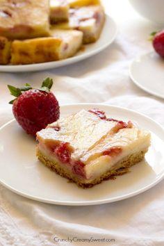 Strawberry Swirl Sour Cream Bars Recipe
