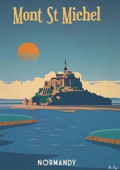 Alex 247 Art print Mont Saint Michel