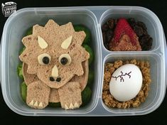 This dad makes the greatest bread boxes for his kids – Bento / Lunchbox / Vesper – Lunch Bento Kids, Bento Box Lunch, Lunch Snacks, Toddler Meals, Kids Meals, Dinosaur Food, Dinosaur Party, Food Art For Kids, Kids Lunch For School