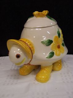 Vintage Turtle Cookie Jar made in Mexico by Lefton