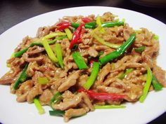 pork and green onions stir fry | Taiwanese Food